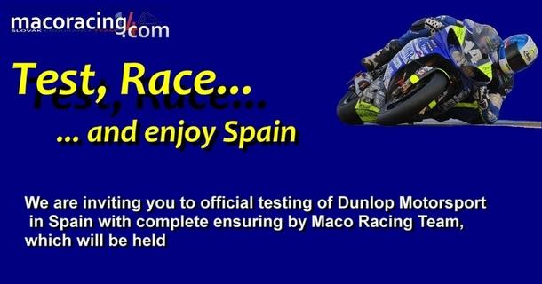 Dunlop Test in Albacete – March 2012