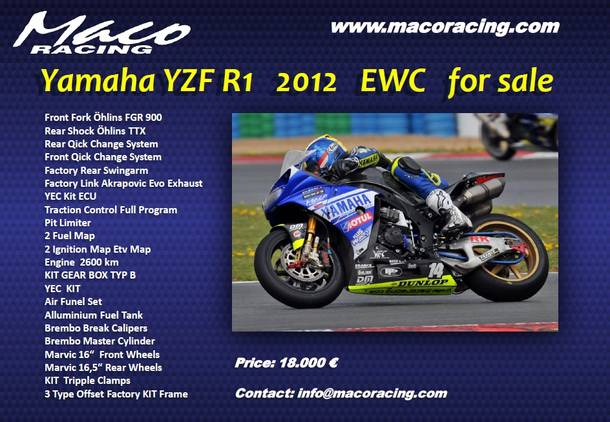 Yamaha EWC and Yamaha SBK for sale