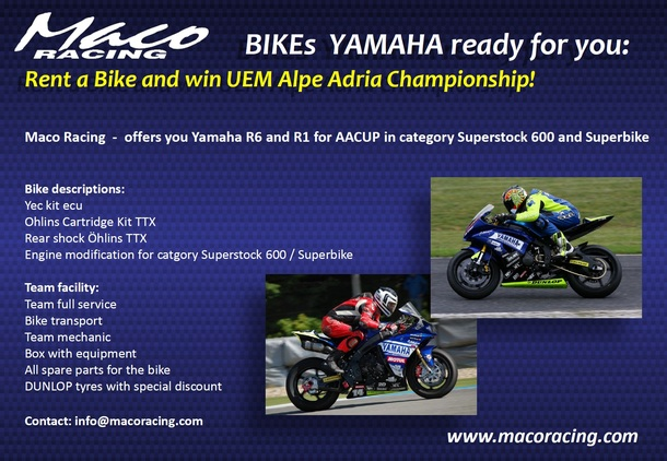 Rent a Bike and win UEM Alpe Adria Championship!